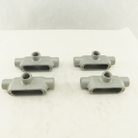 """1/2"""" T Form 35 Unilet Conduit Fitting  Malleable Iron Lot of 4"""