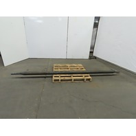 """137""""x 4"""" OD Tapered Shaft /Roller/Drive/Mixer 111"""" Surface"""