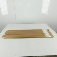 "All Thread Rod 1/2-13"" x 36"" Long Plated Steel Fully Threaded Rod Lot of 13"