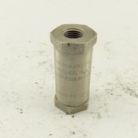 "Generant CV-251SS-T-8 1/4"" NPT Stainless Steel Check Valve 3000PSI Max"