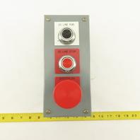 Square D KYAF-3 600V 3 Button Machine Control Station E-Stop