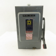 Square D HU-361 30A 600V Non Fused Safety Disconnect Switch