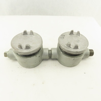 """Crouse Hinds 3/4"""" Hub Hazardous Location EAB Electrical Junction Box Lot Of 2"""