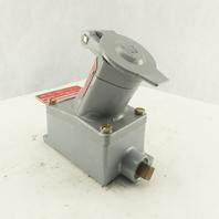 Killark UGRA-20231 20A 1Hp 125V HAZLOC Interlock Receptacle With Box