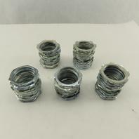 "1-1/4"" Zinc Plated Steel Conduit Locknut Lot of 50"