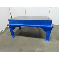 """Cast Iron 1"""" Thick Web Top Layout Inspection Work Welding Table Bench 65x36x34"""""""