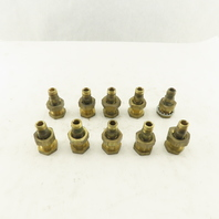 "1/4"" Brass Female Bulkhead Anchor Coupling Fitting Lot Of 10"