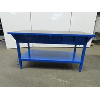 """1-1/2"""" Thick Webbed Cast Iron Lay Out/Jig/Welding/Work Table Bench 72""""x36""""x38"""""""