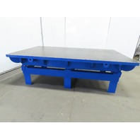 """Cast Iron 2-1/4"""" Thick Web Top Layout Work Welding Table Bench 96-3/4x54-1/2x30"""""""