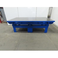 """2"""" Thick Machined Cast Iron Web Top Layout Work Table Bench 96-3/4x54-1/2x30"""""""