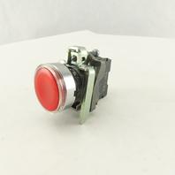 Schneider ZBV-B4 Red LED 24V Illuminated Momentary Push Buttons W/ZBE-101