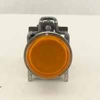 Schneider ZBV-B5 Amber LED 24V Illuminated Momentary Push Buttons W/ZBE-101