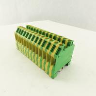 Wieland WKN-10-SL/U Ground Terminal Block Yellow/Green 600V 16-6 AWG Lot of 13