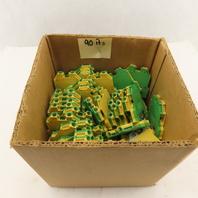 Wieland WK-6-SL/U Ground Terminal Block Yellow/Green 600V 20-8 AWG Lot of 90