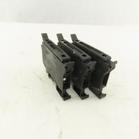 Schneider NSYTRV42SF6 Rail Mount Terminal Block Screw Clamp 10A 600V Lot of 3