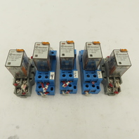 Finder 56.32.8.120.0040 Ice Cube Relay W/Base 12A 250V 120V Coil Lot of 5