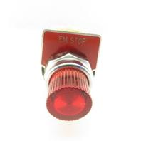 Square D 9001 KA-1 120V Red Illuminated Push Button Momentary Contact E-Stop