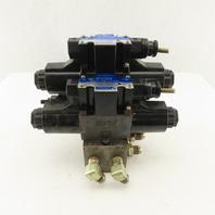 Tokimec DG4-3-2C-M-P7-H-7-52 5/3 Position Valve Assembly Regulator Manifold 24DC