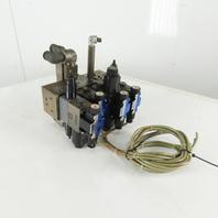 Tokimec DG4V-3-7C-M-P7-H-7-52 2 Position Valve Manifold Assembly Regulator 24VDC