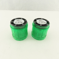 SCHNEIDER ELECTRIC XVUC23 Tower Light LED Green Polycarbonate IP65 Lot of 2