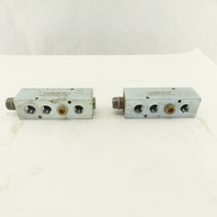 "Datum HA000-04-3/8 Hydraulic Manifold (2) 1/2"" NPT (4) 3/8"" NPT Ports Lot of 2"