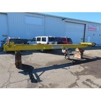 "3 Ton Underhung Single Beam Bridge Crane 21""6'' Span W/Coffing Electric Hoist"