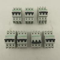 Schneider Electric C60 6A Multi 9 Circuit Breaker 3 Pole Din Rail Mount Lot of 7