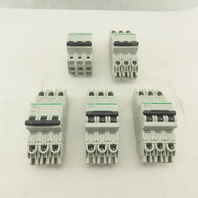 Schneider Electric C60 10A Multi 9 Circuit Breaker 3 Pole Din Rail Mount Lot/5