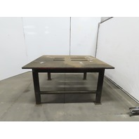 "1-1/4"" Thick Top Steel Machine Base Welding Table Work Bench 67""x63""x34-1/2"""