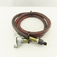 """H-3/8 Pneumatic Hose Air King Coupling 3/8"""" With Male 3/8"""" NPT End 6'"""