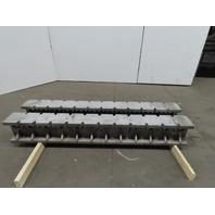 """I Beam Machine Riser Block Cast Aluminum 10""""H x 7""""W x 72""""L Lot of 2"""