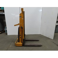 "Big Joe 2018-R5 2000 LB Manual Push Straddle Pallet Lift Stacker 59"" Lift 12VDC"