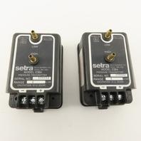 "Setra C264 1"" WC 18-32 VDC Pressure Transducer Lot Of 2"