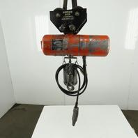 CM Lodestar Model F 1/2 Ton Electric Chain Hoist 10' Lift 16FPM 208-230/460V 3Ph