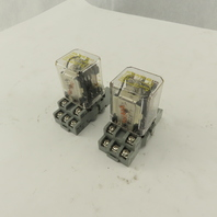 Square D KU13V20 Class 8501 3PDT Ice Cube Relay 120V Coil W/ Socket Lot Of 2