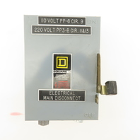 Square D D321N 240V 30A 3 Pole Fused Disconnect Switch