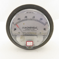 Dwyer 2000-00 Magnehelic 0-.25 In./Water Vertical Calibrated Pressure Gauge