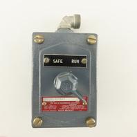 Allen Bradley 800H-R2HA7 600V 2 Way Selector Switch Hazardous Location HAZLOC