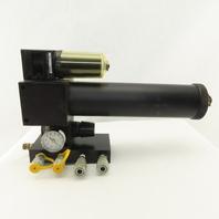 Watts F105-04WJ R105-04C 1/2NPT Filter Regulator Lubricator 4 Way Manifold Ass'y