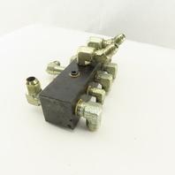 "14 Port Steel Manifold Hydraulic 1/4"" x 3/8 NPT Ports"