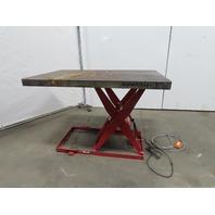 "Southworth 1500Lb. Cap Hydraulic Scissor Lift Table 60""x36"" 120V Single Phase"