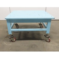 "1"" Blanchard Ground Top 46x42x27-1/2"" Steel Machine Base Layout Work Bench Table"
