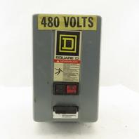 Square D 8536SSBG2H20S 600V 3Ph Size 0 Motor Starter W/ Motor Logic 27A Trip