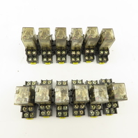 Honeywell SZR-LY2-N1 24VDC Ice Cube Relay With Socket Lot Of 12