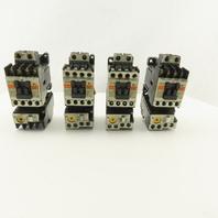 Fuji SC-03 600V 3Ph 5Hp Contactor Overload 220V Coil Lot Of 4