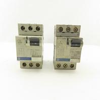 Telemecanique GV2-LS10 600V 6.3A 3 Pole Circuit Breaker Lot of 2