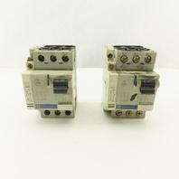 Telemecanique GV2-LS14 600V 10A 3 Pole Circuit Breaker Lot Of 2