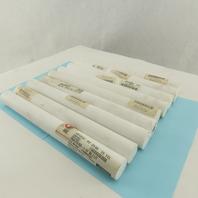 "Teflon - Ptfe Virgin Plastic Rod Bar 1"" Diameter x 12"" Length Lot of 9"