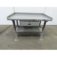 "25""Wx38""Lx34""H 12 Gauge Steel Metal Work Bench Table W/Drawer & Bottom Shelf"