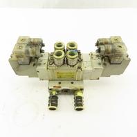 SMC SY7520-5DZ-C10 5/3 Position Double Solenoid Pneumatic Valve 24VDC